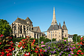 Saint Sauveur abbey and town hall, Redon, Ille-et-Vilaine department, Brittany, France, Europe