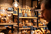 Bakery and breakfast in the L'atelier 116 with assortment of baked goods, Strasbourg, Alsace-Champagne-Ardenne-Lorraine, France, Europe