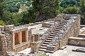 Ancient stairs in the grounds of the Palasr of Knossos, Crete, Greece