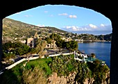 View at the castle of Lipari, Aeolian Islands, southern Italy