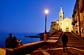 Evening at the old port of Lipari, Aeolian Islands, southern Italy
