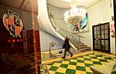Treppenhaus, Vier-Sterne-Hotel, Park Hotel in Taormina, Ostküste, Sizilien, Italien