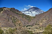 Lava landscape, view from the south of Mount Etna, Sicily, Italy