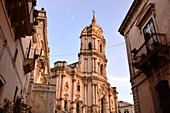 at the Duomo, upper town of Modica, southern Sicily, Italy