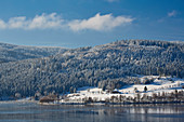 Winter day at Schluchsee, Southern Black Forest, Black Forest, Baden-Wuerttemberg, Germany, Europe