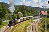 Dreiseenbahn, museum railway at Bahnhof B? Rental, southern Black Forest, Black Forest, Baden-W? Rttemberg, Germany, Europe