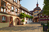 Old town of Burkheim with city gate, Kaiserstuhl, Baden-Württemberg, Germany, Europe