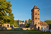 Former Benedictine monastery of St. Peter and Paul, gate tower, castle ruin, renaissance style, monastery Hirsau, Hirsau, Calw, Northern Black Forest, Black Forest, Baden-Württemberg, Germany, Europe