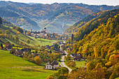 Unterm? Nstertal with St. Trudpert Monastery, autumn, southern Black Forest, Black Forest, Baden-W? Rttemberg, Germany, Europe