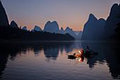 Cormorant Fisherman Lighting Lamp for Night Fishing\nGuilin Region\nGuangxi, China\nLA008342
