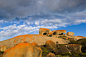 Bemerkenswerte Felsen am frühen Morgen, Flinders-Chase-Nationalpark, Känguru-Insel, Südaustralien, Australien LA009290