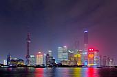 Shanghai Cityscape at night\nChina\nLA008673
