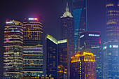Shanghai Cityscape at night\nChina\nLA008693