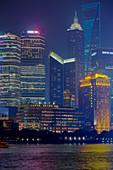 Shanghai Cityscape at night\nChina\nLA008701