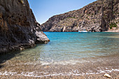 Bay of Agiofaraggo beach at Mátala, south Crete, Greece