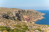 View from the lonely Cape Sideros, East Crete, Greece