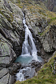 Waterfall at the Vorderee in the Gradental in the Hohe Tauern National Park, Austria