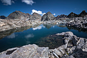 Mountain lake on the Keeskopf in the Gradental in the Hohe Tauern National Park, Austria