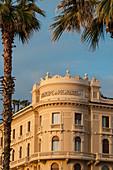 Local typical modernist style along the safront promenade, the Passeggiata. Principe di Piemonte hotel