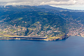 Spectacular Funchal airport on Madeira island, Portugal