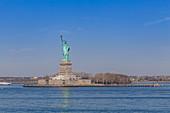 The Statue of Liberty on Liberty Island, New York City, USA
