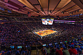 Game of the New York Knicks in Madison Square Garden, New York City, USA