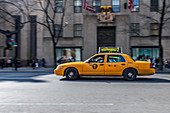 Typical yellow taxi, New York City, USA