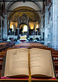 The Holy Bible in the Basilica Sant'Ambrogio, Milan, Italy