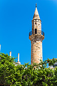 Turkish minaret in Chania, northwest Crete, Greece