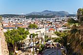 Blick vom Fortezza über Altstadt von Rethymno, Norden Kreta, Griechenland