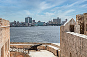 View from the El Morro fortress to the city, Havana, Cuba