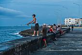 Fisherman on the Malecon, Havana, Cuba