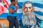 Painted wall, Bayamo, Cuba