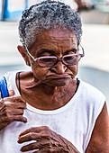 Elderly Cuban lady, Camagüey, Cuba