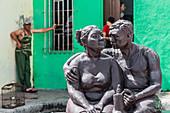 Statues at Plaza del Carmen in Camagüey, Cuba