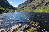Augher Lake along the Gap of Dunloe Road, County Kerry, Ireland, Europe