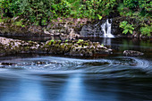 Water vortex, Erriff River, Aasleagh Waterfalls, County Galway, Ireland