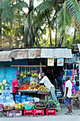 Fruit and vegetable stall in Watamu Town, Watamu, Malindi, Kenya