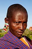 Masai Frau, Nationalpark Masai Mara, Serengeti, Kenia