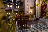 Inside the Great Synagogue in Budapest, Hungary