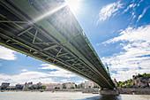 The Peace Bridge in Budapest, Hungary