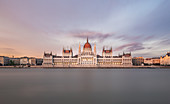 The Danube and the Hungarian Parliament building in Budapest, Hungary