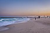 Early morning on the beach in Dubai, UAE