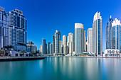 The many skyscrapers in Dubai, UAE