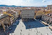 View of the Piazza della Signoria in Florence, Italy