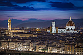 View from Piazzale Michelangelo over the city of Florence, Italy