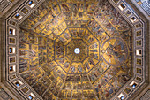 The decorated dome of the Baptistery in Florence, Italy
