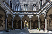 In the courtyard of the Palazzo Riccardi in Florence, Italy