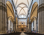 Inside the Duomo in Florence, Italy