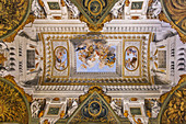 Beautifully decorated ceiling in the Palazzo Pitti in Florence, Italy